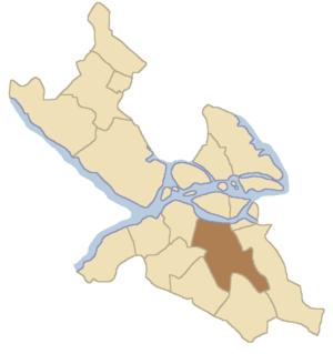 Enskede-Årsta - Location of Enskede-Årsta