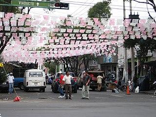 Neighborhood of Mexico City in Cuauhtémoc, Mexico City, Mexico