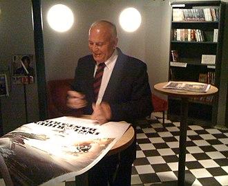 Enzo G. Castellari - Enzo G. Castellari signing Inglourious Basterds posters at FFF (Lund International Fantastic Film Festival) in Lund, Sweden, 2009-09-20