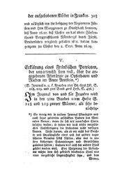 Erklärung eines Fränkischen Patrioten, der unparteyisch seyn will, über die angegebenen Afterärzte zu Opferbaum und Rieden im Amte Arnstein, S. 303-313