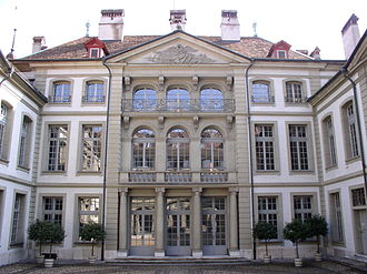 City Council of Bern - The meetings of the Bern city council are held in Erlacherhof (main facade)
