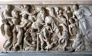 Phaethon - The Fall of Phaëthon on a Roman sarcophagus (Hermitage Museum)