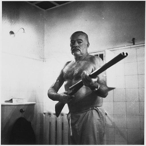 Ernest Hemingway at the Finca Vigia, Cuba - NARA - 192663