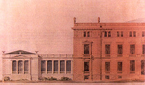 Presidential Mansion, Athens - Ziller's plan for the extension to the ballroom of the crown prince's palace