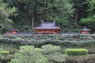 Esashi, Iwate - A model of the Muryōkō-in Temple at the Esashi-Fujiwara Heritage Park.