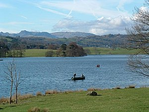 The Tale of Mr. Tod - Esthwaite Water (above), Bull Banks, and Oatmeal Crag are three real world locales depicted in the book's illustrations.