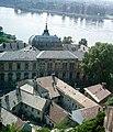 Esztergom, kilátás a Várhegyről, szemben a Prímási Palota. Fortepan 85443.jpg