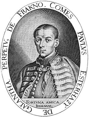 Paul I, Prince Esterházy - Paul shortly after his elevation to Count Esterházy of Galántha by Elias Widemann.