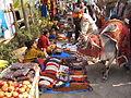 Ethnic Ornaments Hawkers & Religious Ox - Gangasagar Fair Transit Camp - Kolkata 2012-01-14 0784.JPG