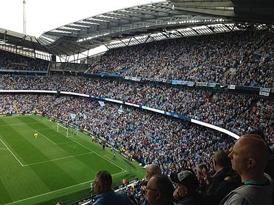 South Stand after expansion in 2015 Etihad Stadium - Man City vs Chelsea 2015-16 (2).jpg