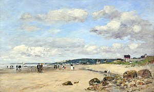 Eugène Louis Boudin (1824-1898) - Plage en Normandie, France - VIS.LI.900 - Sheffield Galleries and Museums Trust.jpg