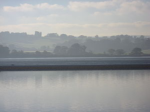 River Exe - The Exe Estuary with Powderham Castle in the background.
