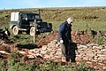 Exmoor, drystone walling at Honeymead Two Gates - geograph.org.uk - 80146.jpg