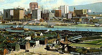 Exposition Park (Pittsburgh) - Postcard ca. 1900 including Exposition Park