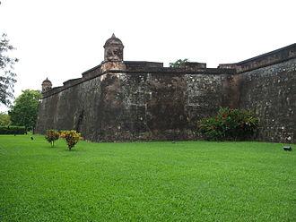 Battle of San Fernando de Omoa - Exterior view of the fort at San Fernando de Omoa. Photo taken in 2006