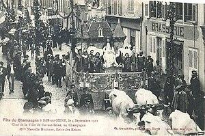 Bar-sur-Seine - Champagne festival in 1922