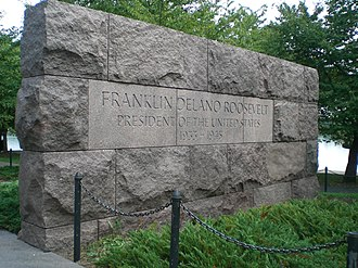 Franklin Delano Roosevelt Memorial - Image: FDR Memorial Sign