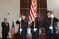 FEMA - 34889 - Administrator Paulison during colors presentation at Winchester building dedication.jpg