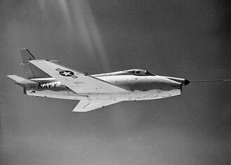 North American FJ-4 Fury - FJ-4F prototype with an additional rocket motor