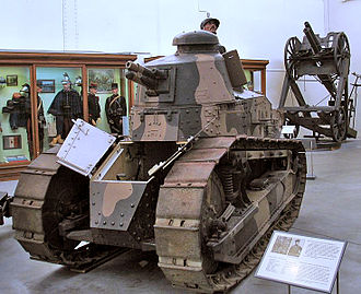 Renault FT - FT with Girod turret at Royal Museum of the Armed Forces, Belgium
