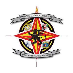 English: 2nd Marine Logistics Group (Forward) Logo