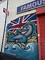 Famous British Fish & Chips - Holyhead Road, Wednesbury - graffiti street art - The Queen (38497659582).jpg