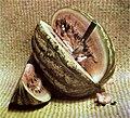 Farbfotografie Melone mit Messer (1892).jpg