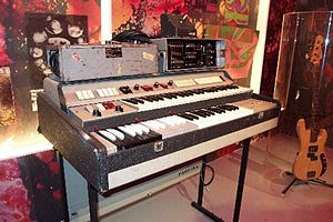 Richard Wright (musician) - Richard Wright's Farfisa Compact Duo organ and Binson Echorec unit