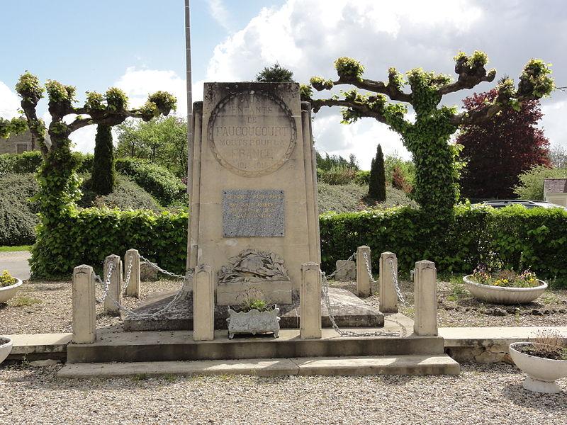 Faucoucourt (Aisne) monument aux morts