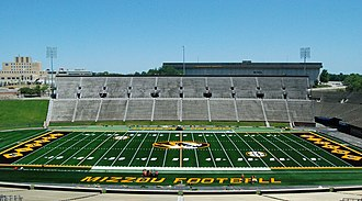Faurot Field - Press box view of the redesigned FieldTurf surface for the 2012 season.