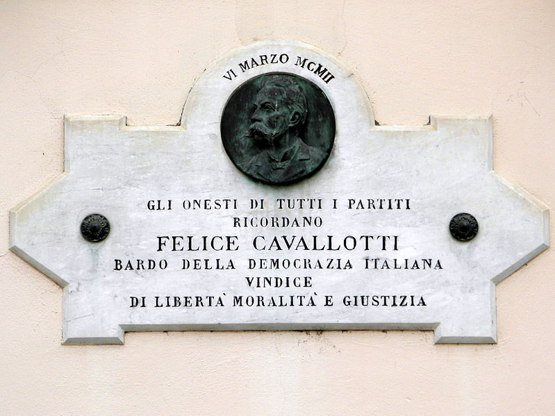 File:Felice Cavallotti plaque (Fiesso Umbertiano).jpg