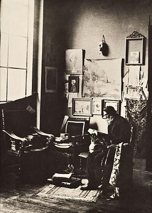 Félix Parra - Félix Parra in his studio (early 20th century).