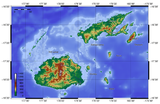 Geography of Fiji - Topography of Fiji