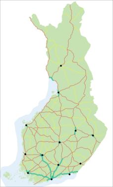 karta med vägnummer Lista över motorvägar i Finland – Wikipedia karta med vägnummer