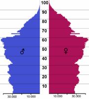 Pirámide poblacional.