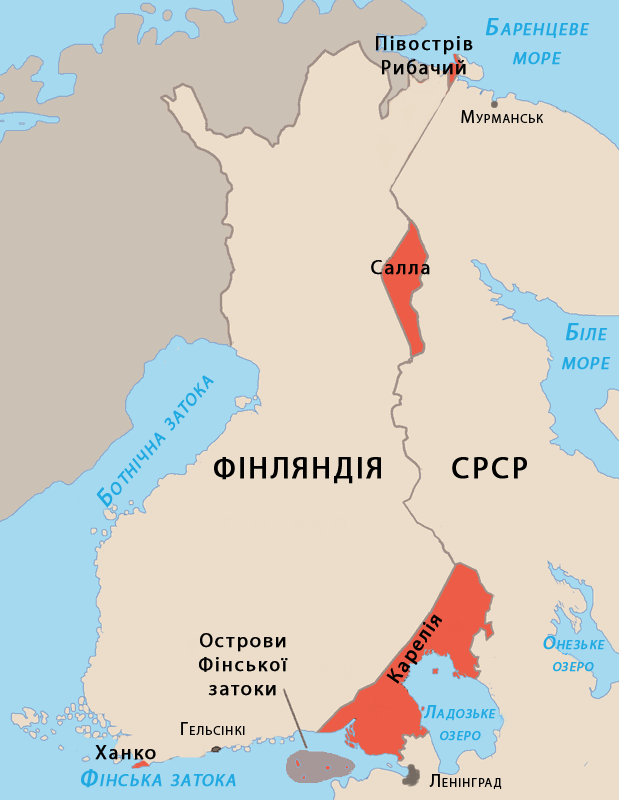 Finnish areas ceded in 1940 UKR