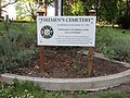 Firemen's Cemetery sign, Lone Fir Cemetery, May 2012.JPG