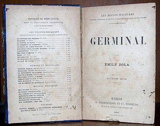 Germinal (novel) - The title page of the 1885 French edition