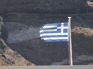 Flag of GreeceinSantorini.JPG