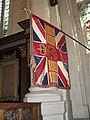 Flag within St Sepulchre, Holborn Viaduct - geograph.org.uk - 1806458.jpg