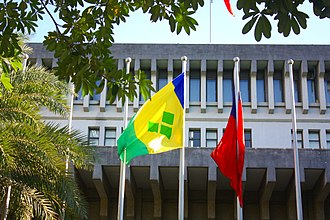 Flag of Saint Vincent and the Grenadines - Flag of Saint Vincent and the Grenadines in Taipei.