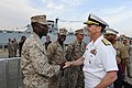 Flickr - Official U.S. Navy Imagery - The CNO shakes hands and meets with Marines at the USO New York City Fleet Week block party..jpg