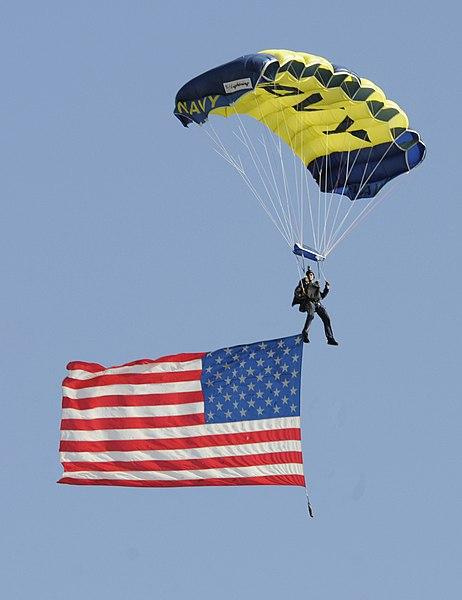 File:Flickr - Official U.S. Navy Imagery - The Leap Frogs fly an American flag..jpg