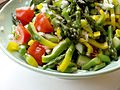 Flickr - cyclonebill - Salat af peberfrugt, asparges, tomat, agurk og salatløg.jpg