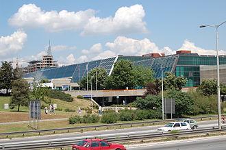 Sava Centar - View on Sava Centar from street in 2008
