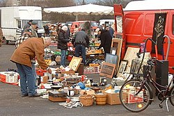 A typical market where they buy and sell fleas in Germany