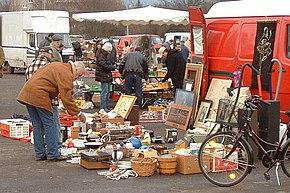 Immagini di un mercatino a Francoforte