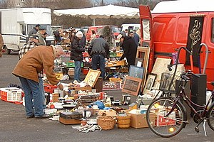 A typical flea market shop, in Germany Françai...