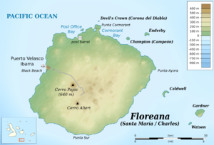 Floreana Island - Map of Floreana