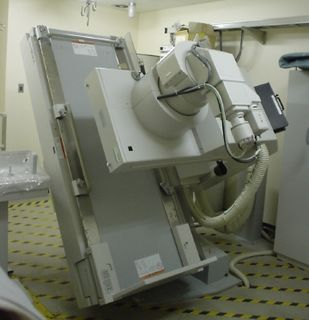 Fluoroscopy Production of an image when X-rays strike a fluorescent screen